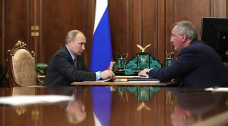 Vladimir Putin and Dmitry Rogozin