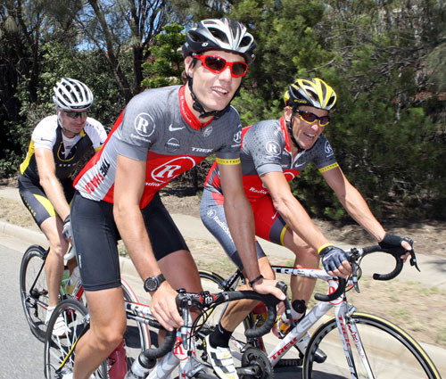 Darryl Impey and Lance Armstrong, Tour Down Under 2010
