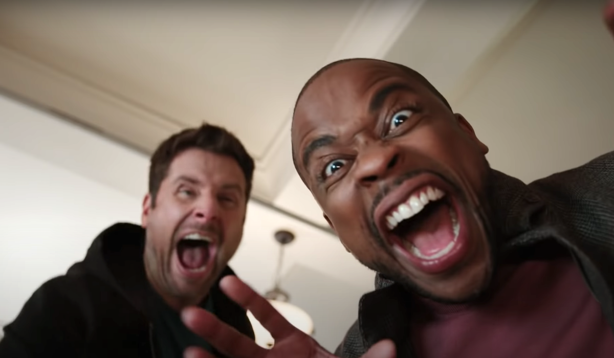 psych 2: lassie come home shawn and gus screaming