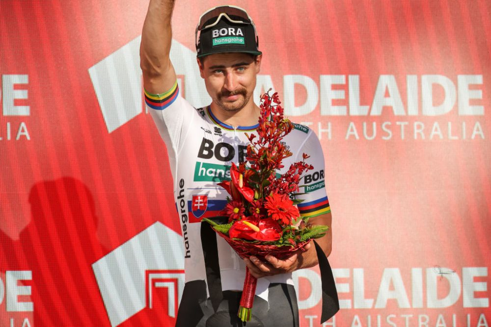 Peter Sagan wins Tour Down Under stage three in the Adelaide Hills