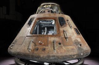 'Destination Moon' Exhibit Marks Return to Houston for Apollo 11 Spacecraft