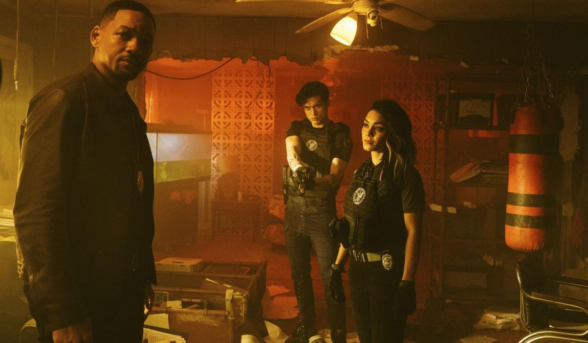 Bad Boys For Life Will Smith under watch by Charles Melton and Vanessa Hudgens