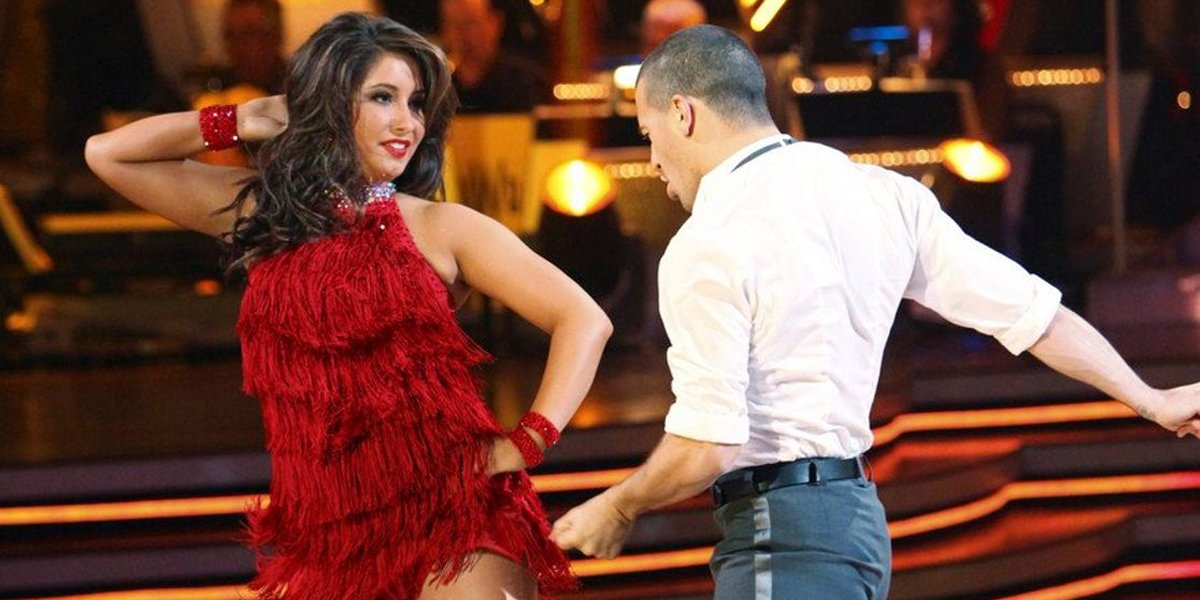 Bristol Palin and Mark Ballas dance in Dancing With the Stars Season 11 on ABC