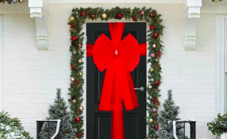 manomano christmas door bow