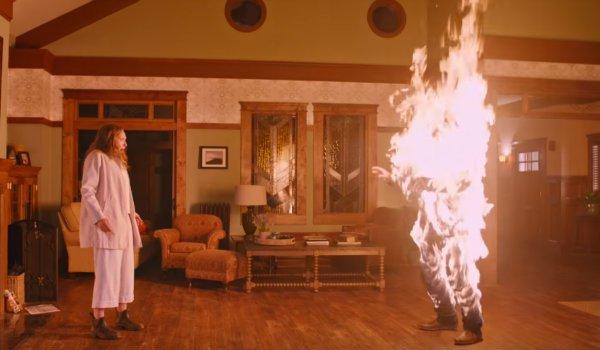 Hereditary Toni Collette Gabriel Byrne Steve on fire