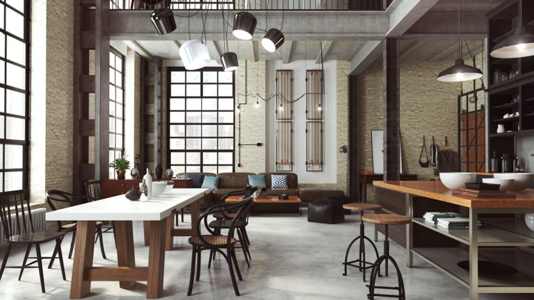 Industrial-style interior
