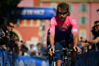COL DE TURINI FRANCE MARCH 16 Start Mitchell Docker of Australia and Team EF Education First during the 77th Paris Nice 2019 Stage 7 a 1815km stage from Nice to Col de Turini La Bollne de Vsubie 1607m PN ParisNice on March 16 2019 in Nice France Photo by Justin SetterfieldGetty Images