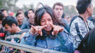 A fan at Kathmandu's Silence Music Festival
