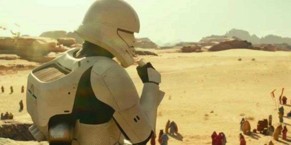 A jumptrooper in Star Wars: The Rise of Skywalker