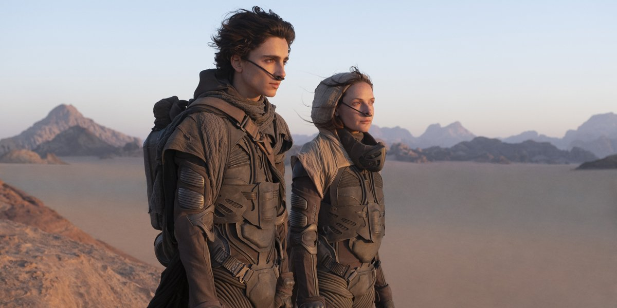Lady Jessica (Rebecca Ferguson) and Paul (Timothee Chalamet) in Dune