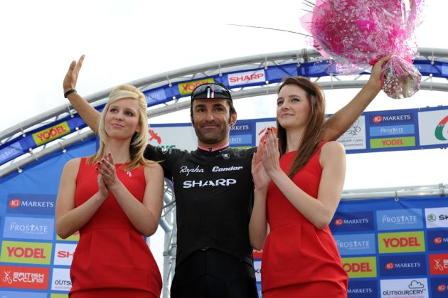 Kristian House receives combativity award, Tour of Britain 2011, stage four