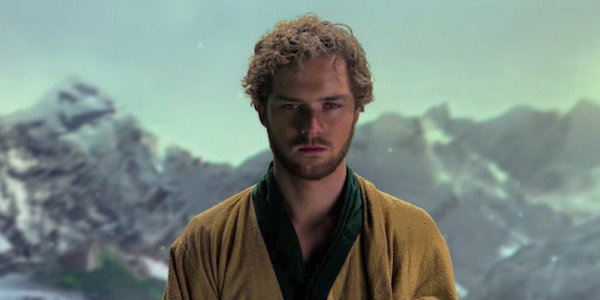 Finn Jones on a mountain during Iron Fist