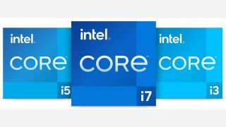Logos for i3, i5 and i7
