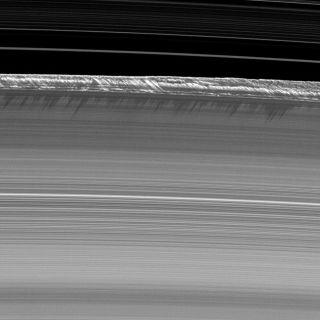 Saturn's Shimmying Rings May Be Imitating Galaxy