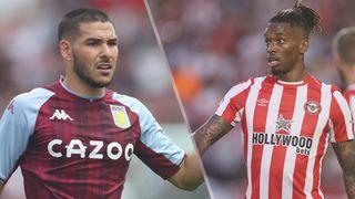Aston Villa vs Brentford live stream — Emiliano Buendia of Aston Villa and Ivan Toney of Brentford