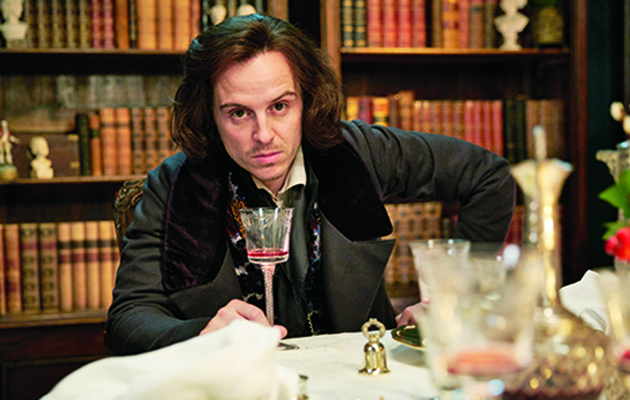 Andrew Scott guest stars in Quacks this week and steals the show as a self-obsessed Charles Dickens.