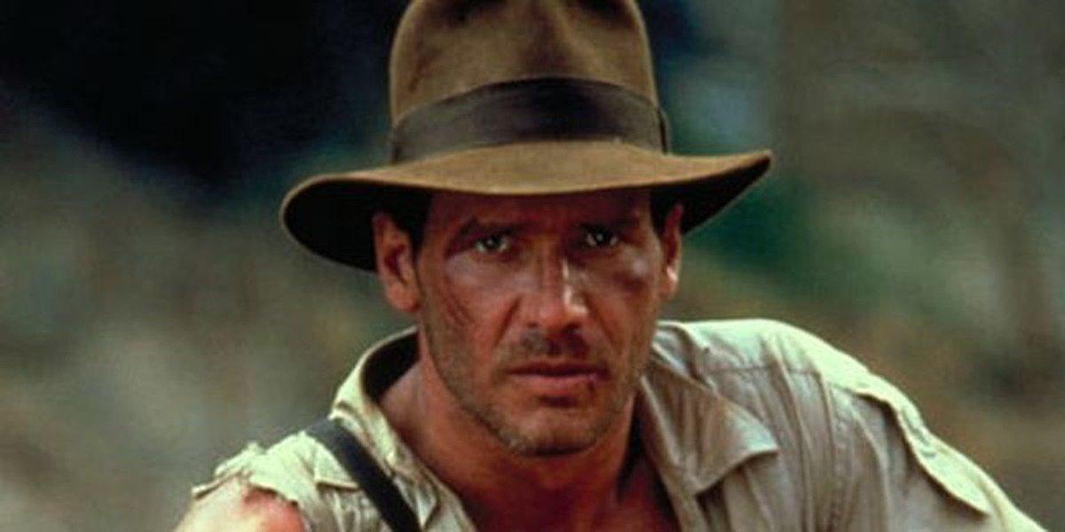 Indiana Jones looks forward in Indiana Jones and the Temple of Doom (1984)