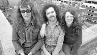 Budgie, with Burke Shelley far right, in 1974