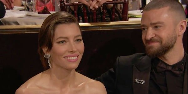 Jessica Biel Justin Timberlake Golden Globes 2018