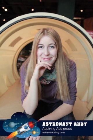 Aspiring astronaut Astronaut Abby