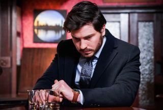 Gray Atkins drinks in teh Queen Vic in EastEnders