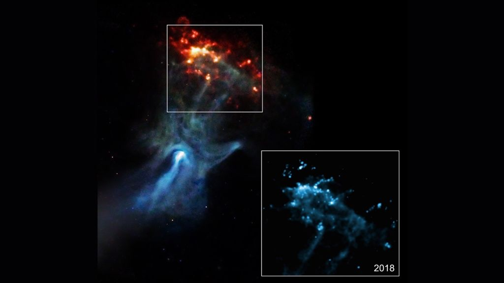 Giant ghostly 'hand' stretches through space in new X-ray views