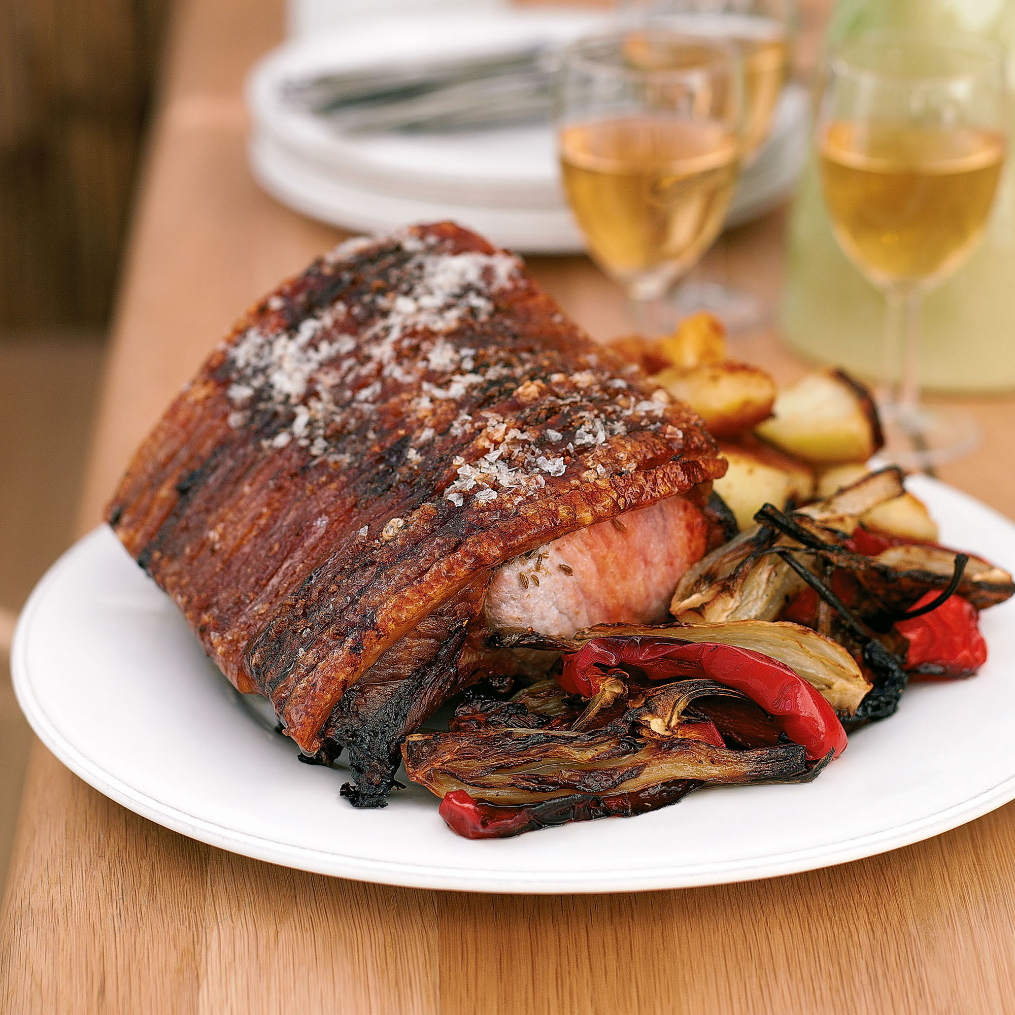 Watch Loin of Pork with Crackling and Roasted Fennel Recipe video