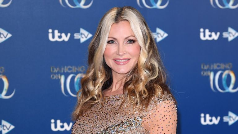 Caprice Bourret attends the Dancing On Ice 2019 photocall at the Dancing On Ice Studio