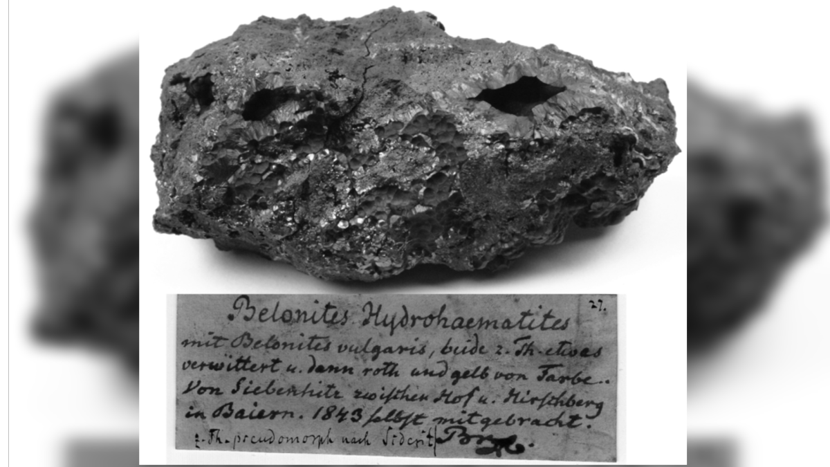 Earth rocks collected in 19th century hold clues to finding water on Mars