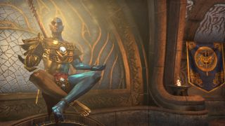 Vivec floats with legs crossed