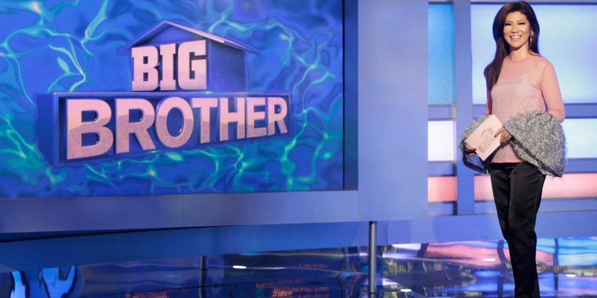 Julie Chen on the set of Big Brother CBS