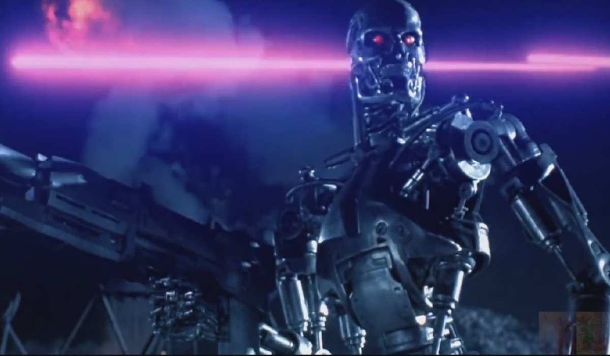 Terminator 2: Judgement Day an Endoskeleton soldier during battle