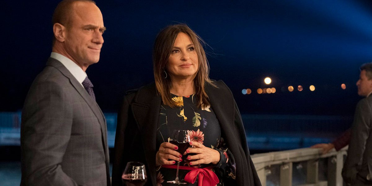 Mariska Hargitay and Christopher Meloni in Law and Order SVU Season 22 finale