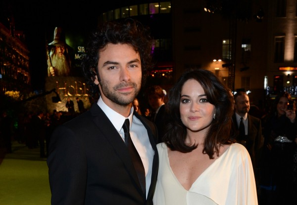 Aidan Turner and Sarah Greene in 2012