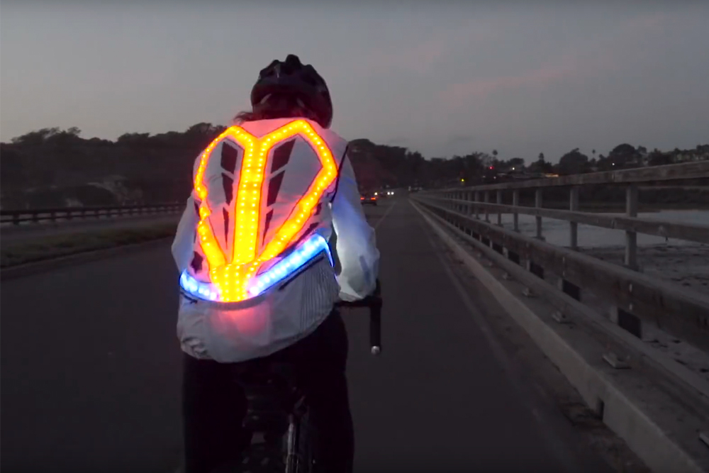 This Crazy Cycling Jacket Has 250 Leds Indicators And