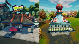 Fortnite Durrr Burger and Pizza Pit locations