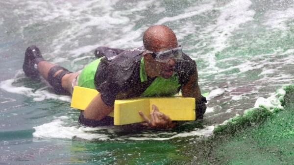 I'm A Celebrity's Kieron Dyer during Celebrity Cyclone