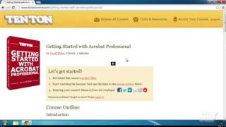 Video Tutorial: Acrobat Pro XI - Quick Start