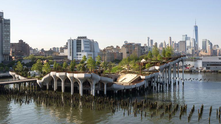 Little Island pleasure garden in New York's Hudson river