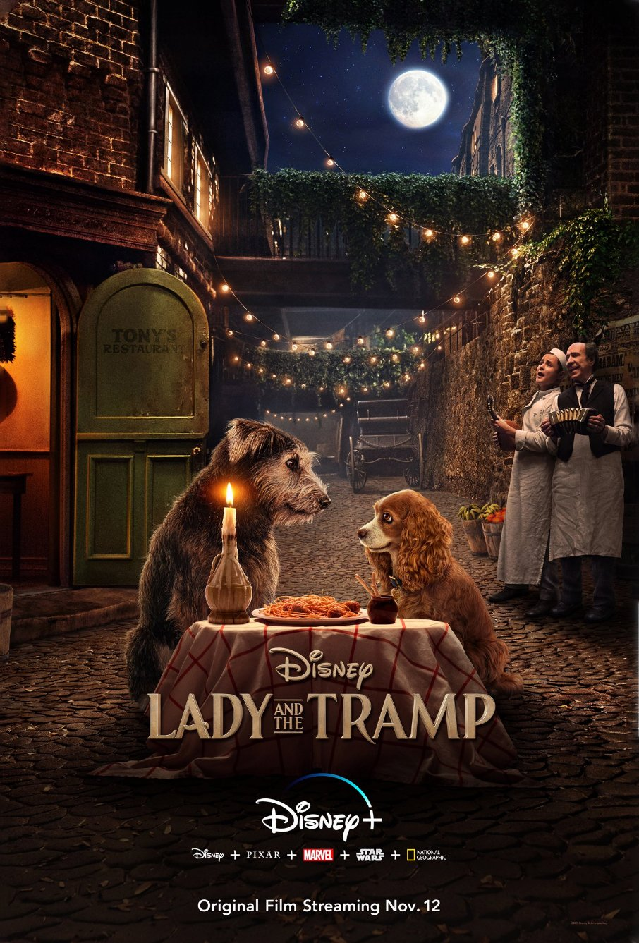 disney's full lady and the tramp spaghetti poster