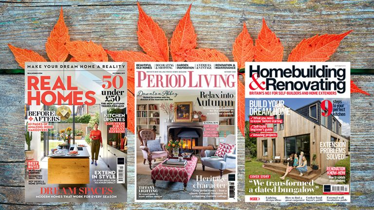Covers of Real Homes, Period Living and Homebuilding & Renovating