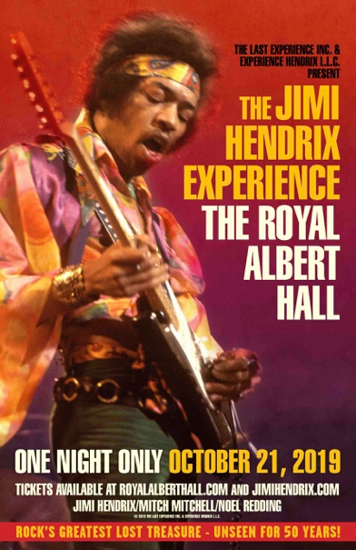 """""""Lost"""" film The Jimi Hendrix Experience: The Royal Albert Hall to be screened at the original venue 