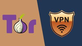 Tor and VPN logos