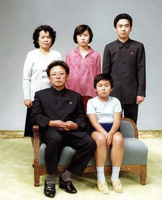 Kim Jong family photo