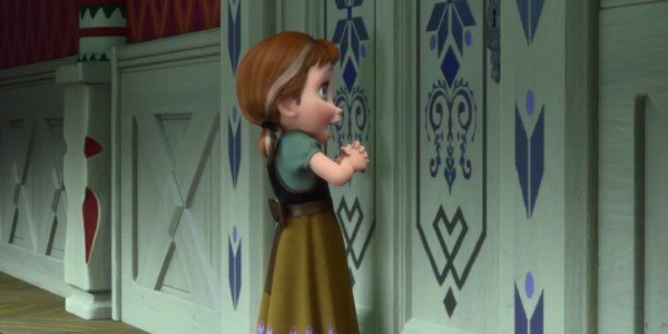 Frozen's young Anna singing about Snowman