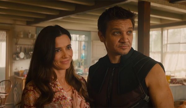 Laura and Clint Barton in Avengers: Age of Ultron