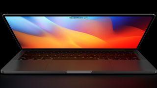 Mockup of MacBook Pro M1X
