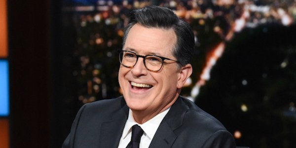 stephen colbert laughing on the late show