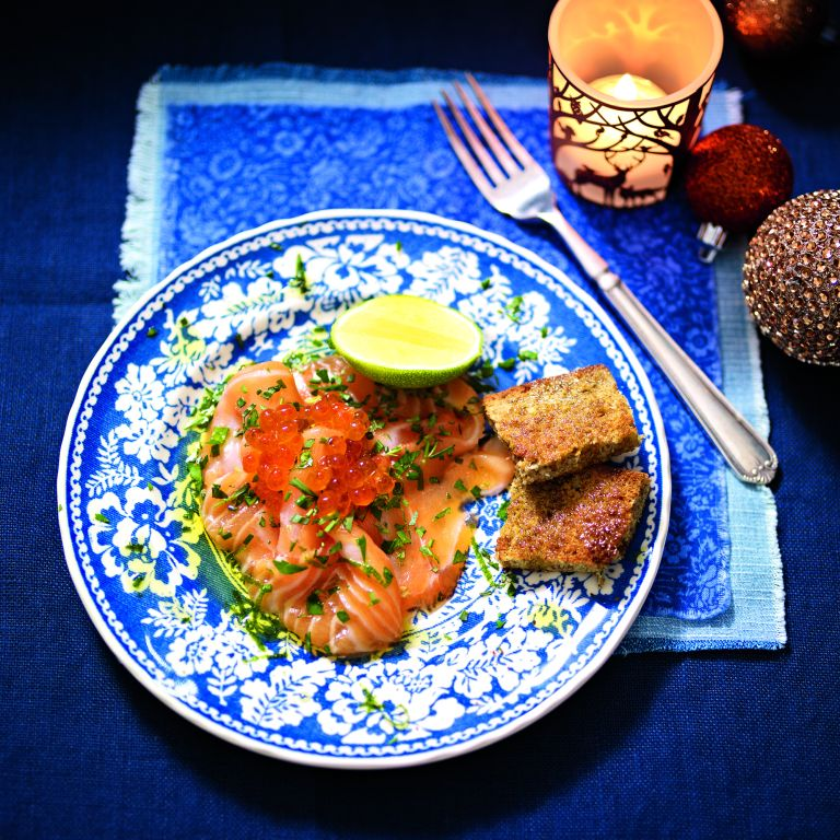 Carpaccio of Salmon with Herbs and Lime