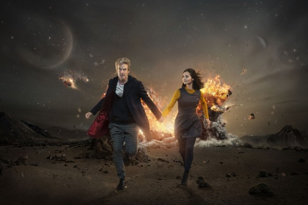 The Time Lord (Peter Capaldi) and his companion (Jenna Coleman)